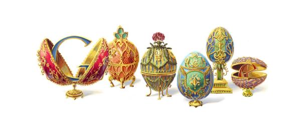 Doodle Google : Oeufs de Fabergé