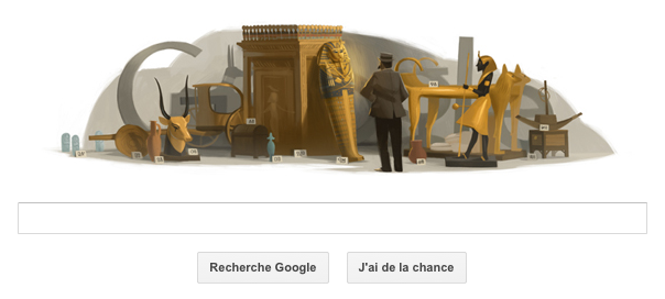 Doodle Google : Howard Carter et le tombeau de Toutânkhamon