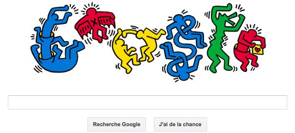 Google : Keith Haring et ses Hiéroglyphes en doodle