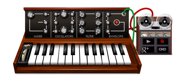 Doodle Google : Synthétiseur de Robert Moog