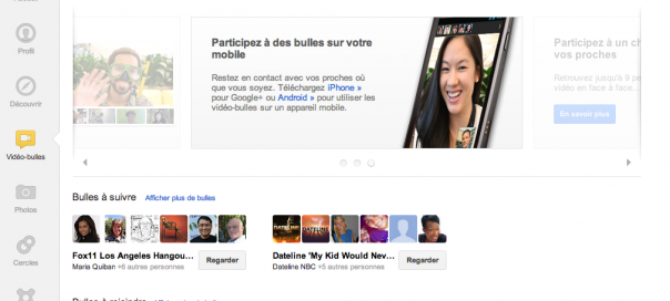 Google+ : Les Hangouts en direct disponibles pour tous