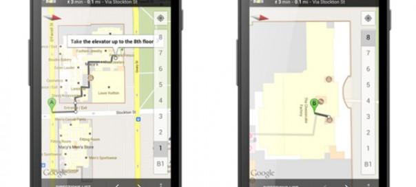 Google Maps Android : Offres et directions de marche à l'intérieur des bâtiments