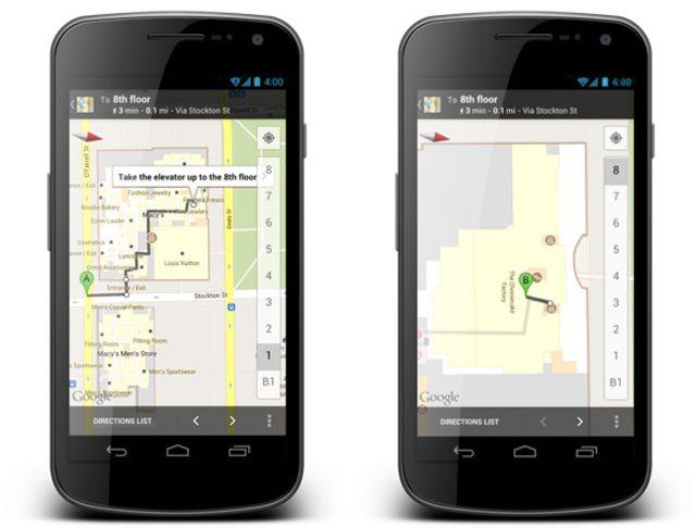 Google Maps : Directions à l'intérieur des bâtiments