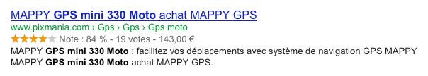 Google : Microdonnees de produit dans les SERPS