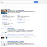 Google : Page de résultats
