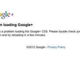 Google+ : Erreur de chargement de CSS