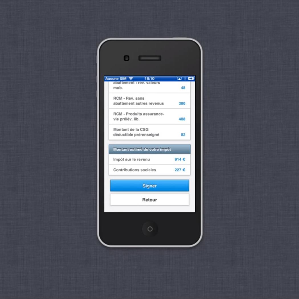 Impôts : Application mobile de déclaration de revenus 08