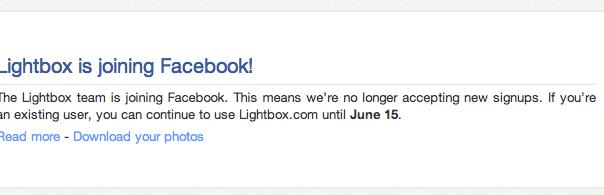Facebook : Embauche de l'équipe derrière lightbox.com