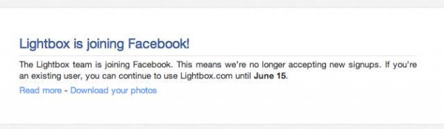 Facebook embauche les équipes de Lightbox