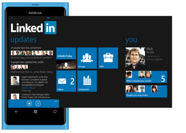 LinkedIn sur Windows Phone