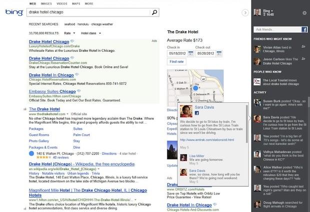 Bing : Barre sociale