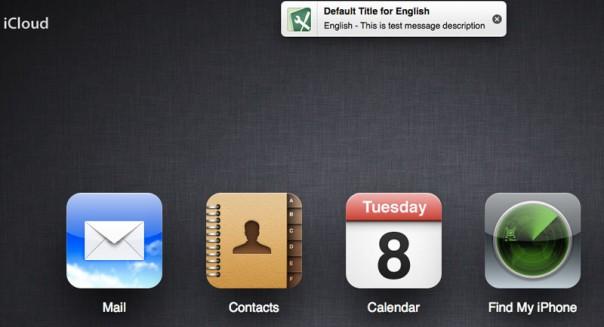 Notifications iCloud