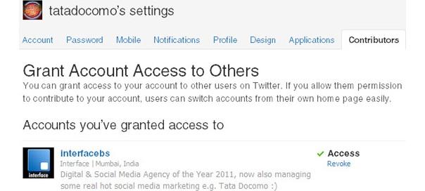 Twitter : Contributeurs, pour partager l'accès à un compte