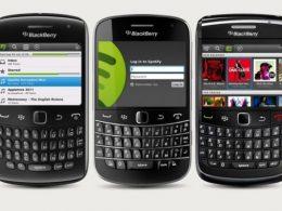 Spotify sur Blackberry