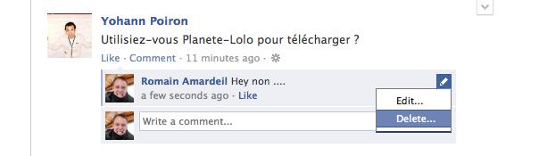 Facebook : Modifier ses commentaires, c'est possible !