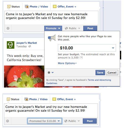 Facebook : Posts sponsorisés