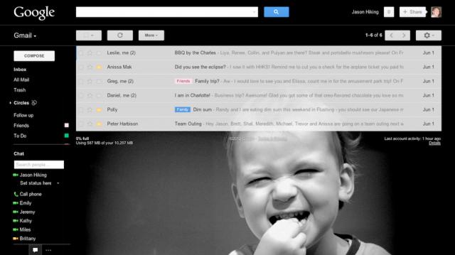 Gmail : Thémes personnalisés