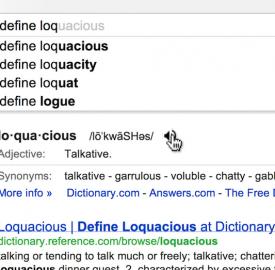 Google Définitions : Fonctionnalité présentée en rappant