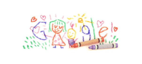 Google : Dessin pour la fête des mères en doodle