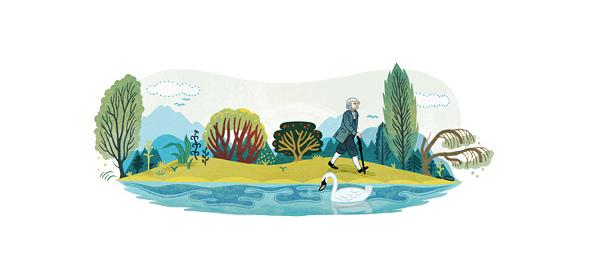 Google : Jean-Jacques Rousseau à l'honneur en doodle