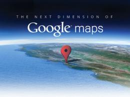 Google Maps : La prochaine dimension