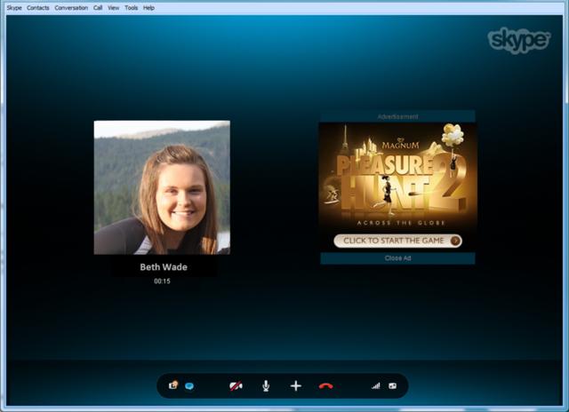 Introduction des publicités dans Skype