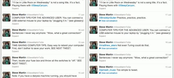 Twitter : Profil simplifié sans les réponses/discussions
