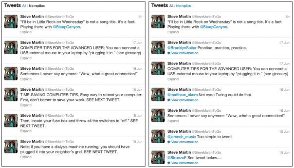 Twitter : Profil simplifié