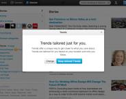 Twitter : Un algorithme de tendances sur mesure