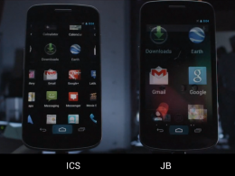 Android : Fluidite de l'interface Ice Cream Sandwich Vs Jelly Bean