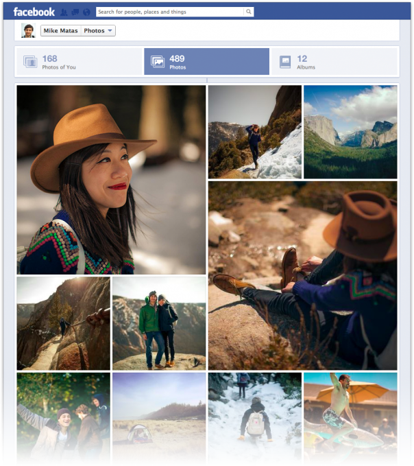 Facebook : Nouvelle interface des albums photos