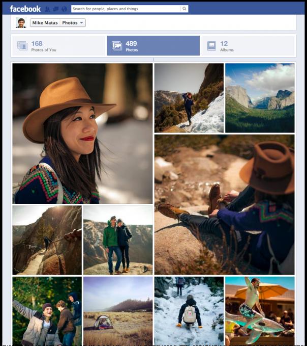 Facebook : Nouvelle interface des albums photos