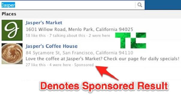Facebook : Résultats sponsorisés
