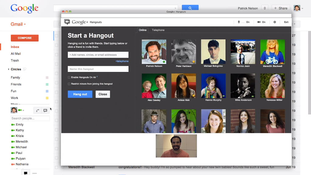 Gmail Incorporates Superchat with Video Google+