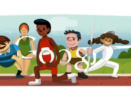 Google : Doodle Jeux Olympiques de Londres 2012