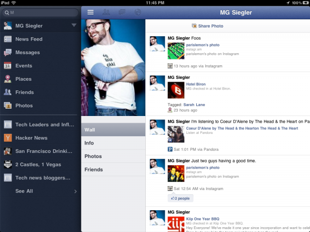 Google+ sur iPad