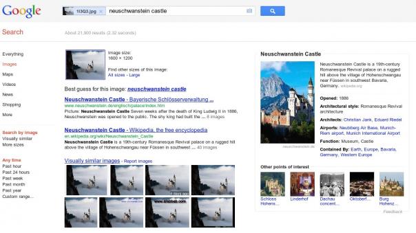 Google : Recherche par image avec Knowledge Graph