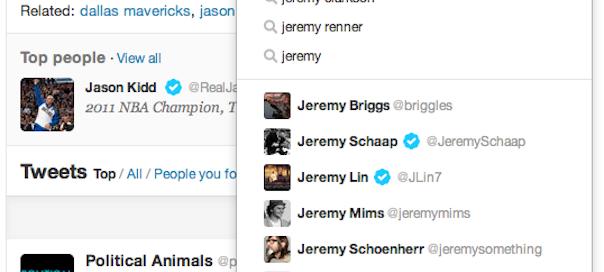 Twitter : Refonte de la partie recherche