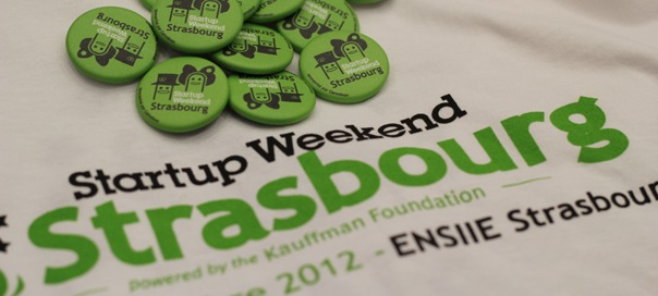 Startup Weekend Strasbourg : T-shirt & badges