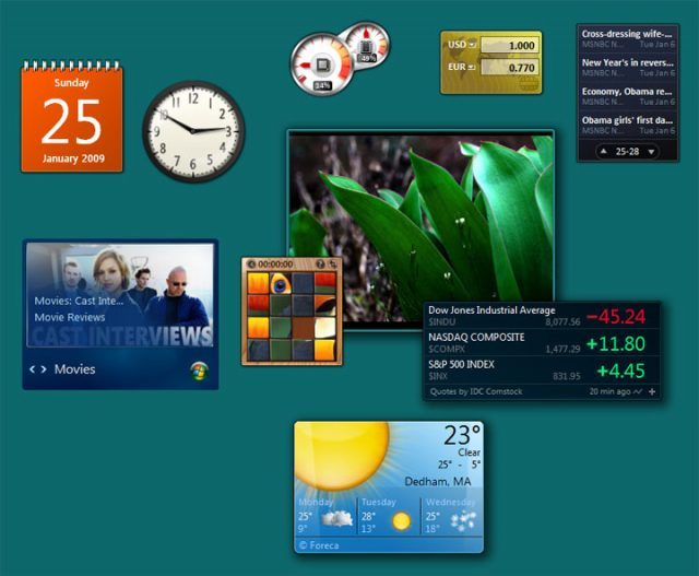 Windows 7 : Gadgets