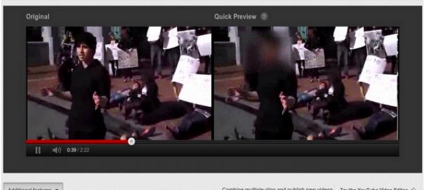 YouTube : Flouter des visages, c'est possible