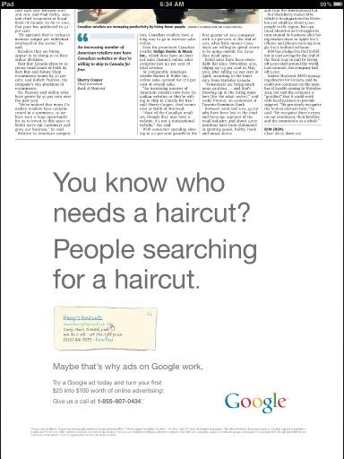 Publicités Google Adwords