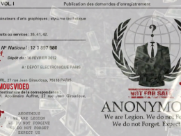 Anonymous : Logo & slogan à l'INPI