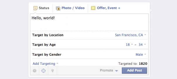 Facebook : Ciblage de publication sur les pages