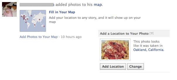 Facebook : Géolocalisation des photos demandée