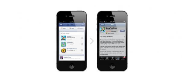 Facebook : Nouvelles publicités mobiles pour applications