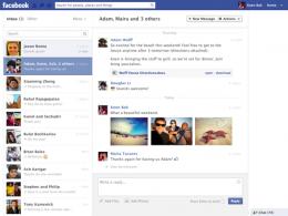 Facebook : Un nouveau design pour sa messagerie