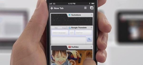 Google Chrome iOS : Partage sur les réseaux sociaux
