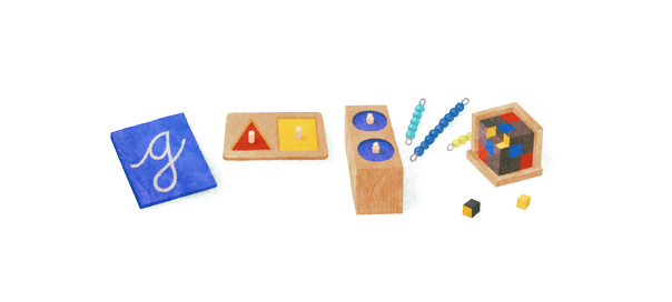 Google : Doodle Maria Montessori et sa pédagogie