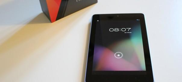 Google Nexus 7 3G : Accès à internet sur la tablette imminent